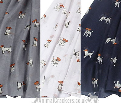 Ladies Jack Russell Scarf Sarong COLOUR CHOICES dog lover gift stocking filler