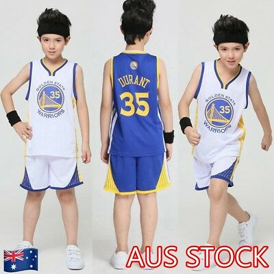 Kevin Durant #35 Kids Children's Youth Basketball Jersey Golden State Warriors