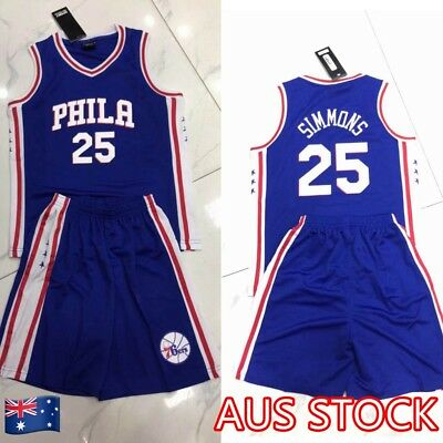 Ben Simmons #25 Kids Children's Youth NBA Basketball Jersey Philadelphia 76ers