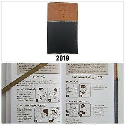 2019 WEEKLY POCKET Calendar Planner Organizer Notepad Black