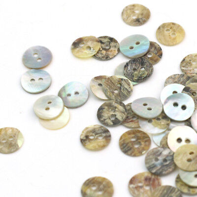 Lot of 100pc Mother of Pearl Shell Buttons Sewing 2 Holes Round 10mm