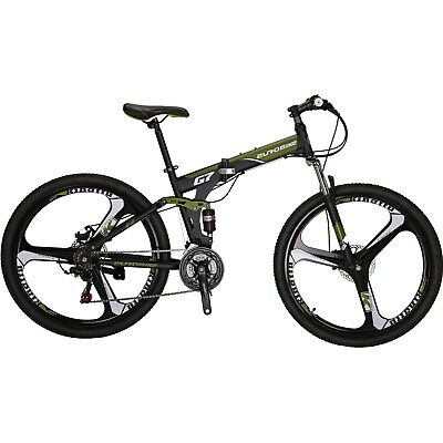 "Full Suspension Mountain Bike 21 SPeed 27.5"" Disc Brakes Mens Bicycle MTB  New"