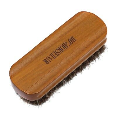 Horse Hair Shoe Brush Polish Natural Leather Real Soft Polishing Tools Boot New