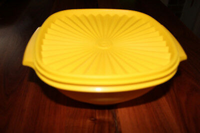 Retro Tupperware Storage container. Yellow.