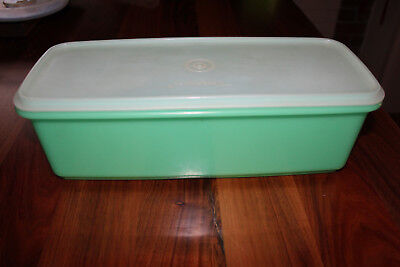 Large Tupperware celery/vegetable  container . Green base & Insert & Clear lid.