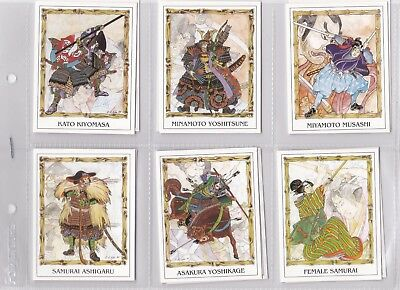 Trading Cards - Samurai Warriors - Issued in 1994 - Full set of 12 cards