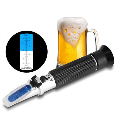 Aluminum Portable Alcohol 0-80% Test Refractometer Wine Tester Measure Function