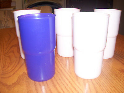 """Assortment of Vintage 12 oz. """"G"""" TUPPERWARE Stackable Tumblers"""