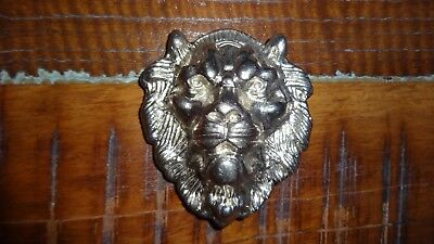 Beautiful Silver Metal Versace Style Lion Head Belt Buckle From Usa - Rare!