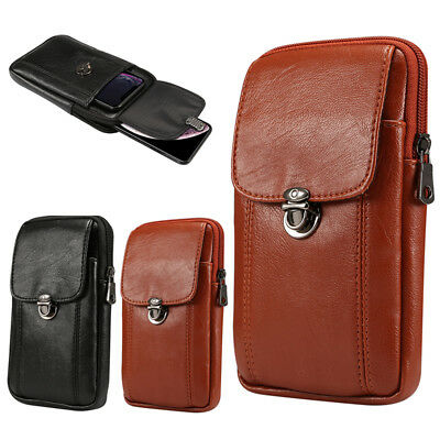 Leather Fanny Pack Belt Clip Waist  Holster Case Cover For Various Apple iPhone