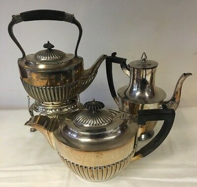Utility Plate Spirit Kettle With Matching 'The 'Hygenia' Teapot & Hot Water Jug