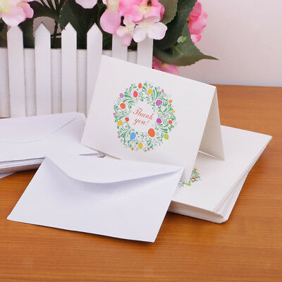 50pcs Wedding Christmas Paper Floral Thank You Cards with Envelopes
