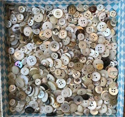 Job Lot Vintage Shell/mother Of Pearl Buttons 450g