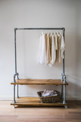 vintage style clothes rail uk, vintage industrial style clothes rail / wardrobe / shoe storage, Design ideen