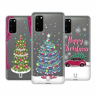 Head Case Designs Merry Christmas Trees Soft Gel Case For Samsung Phones 1