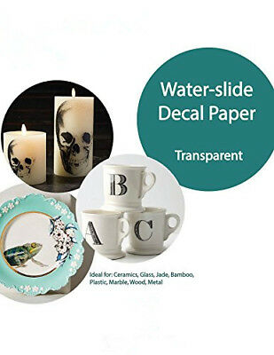 5x Waterslide Decal Paper Clear A4 DIY Inkjet Water Slide Paper