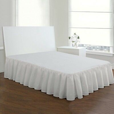 Bed Skirt Stretchy Fitted Cover Solid Color Bed Base Wrap Bedspread Dust Ruffle