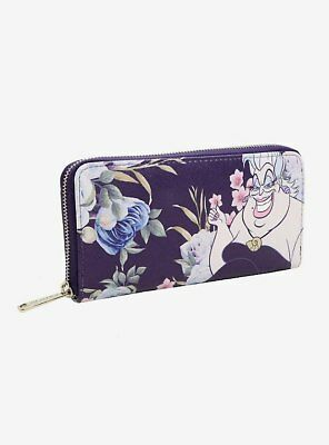 New Loungefly Disney Little Mermaid Ursula Floral Wallet