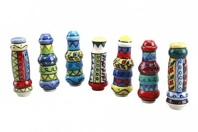 Colourful Ceramic Handpainted Mexican Style Light Blind Pull -Toilet WC Bathroom