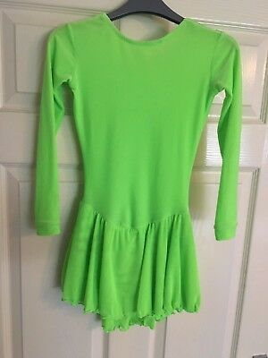 Bright Green Figure Skating Dress Age 10/11