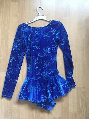 Blue Mondor Figure Skating Dress Adult Size Medium.