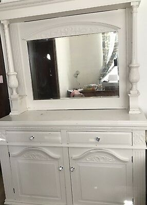 Large Dresser With Mirror . Victorian Style .