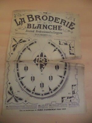 Old Antique Newspaper La Broderie Blanche Lingerie French Needlework 1920S