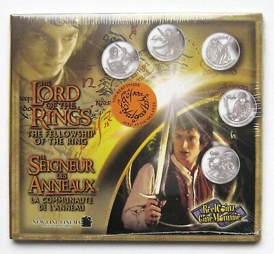 Rare Lord of the Rings The Fellowship of the Ring Collectible Medallions Coins