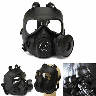 Airsoft Gas Mask Double Filter Fan CS Edition Perspiration Dust Face Guard Mask