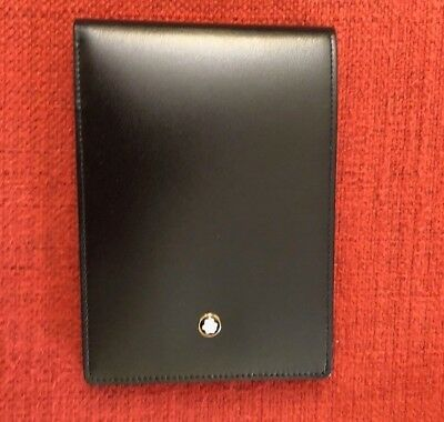 MONTBLANC notebook -Black leather Cover (NEW)