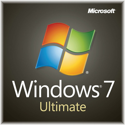 Licenza Windows 7 ULTIMATE 32/64 Bit versione sticker COA CON DVD IN OMAGGIO