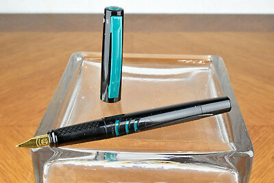 1990s Pelikan Go P70 Turquoise Blue Piston Fountain Pen MADE IN GERMANY