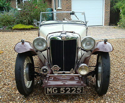 MG Midget TA 1936, MG registration, spare engine, gearbox, wheels etc.