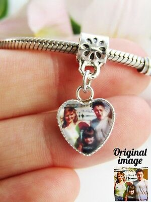 Personalised Photo Charm For Bracelet Picture Memory Gift Valentines Ladies