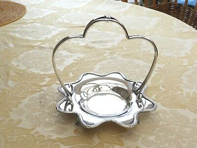 Victorian Silver Plated Scallop Edged Footed Conserve Pot Holder   1340141/146