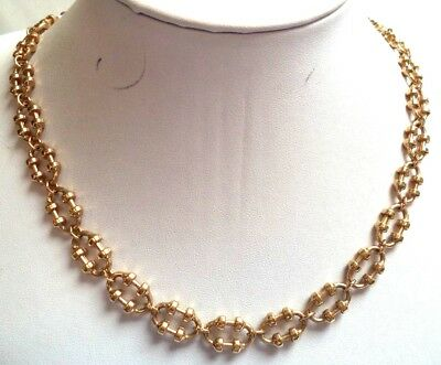 """Stunning Vintage Estate Signed Avon Gold Tone Chain 26"""" Necklace! 5027R"""