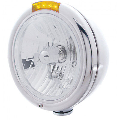 United Pacific 31758 Classic Style Headlight With Amber LED Turn Signal