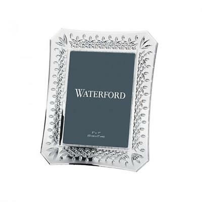 """Waterford, Lismore 5"""" x 7"""" clear Crystal Picture Frame, New in Box"""