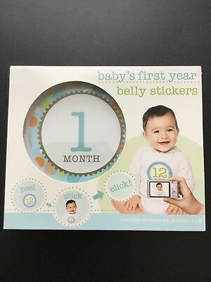 Babys First Year Belly Stickers - peel and stick,photo,never used,in orig box