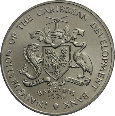 LANZ Barbados 4 Dollars 1970 FAO Food for all #WV2027