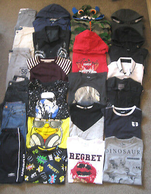 Large Boys Bundle,8-9yrs. 23 items. Polo Ralph Lauren, Umbro, Next, Disney.