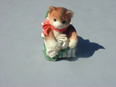 "Enesco Calico Kittens Figurine ""I'm All Yours"""