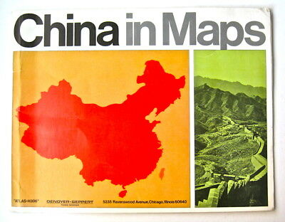 """China in Maps"" booklet of 28 pages, 1968"