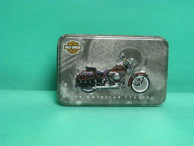 (#1008)  1998 Harley Davidson (2) Decks of Playing Cards in Collector Tin Box