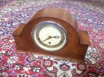 Antique Edwardian Art Deco Elliot London Westminster Chime Mantel Clock,oak Case
