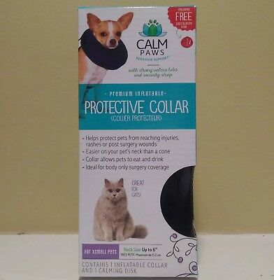 21st Century Calm Paws Inflatable Protective Collar For XS Small Dogs and Cats