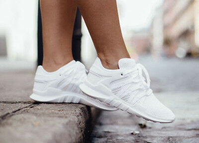 new product cbffc d691d ADIDAS ORIGINALS WOMENS Girls EQT RACING ADV Trainers White BY9796 UK 4.5