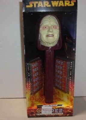 RARE Star Wars GIANT PEZ EMPEROR PALPATINE 12 Inches Tall 2005 in box
