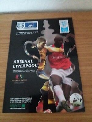 Arsenal v Liverpool FA Cup Final 2001 Programme Excellent Cond