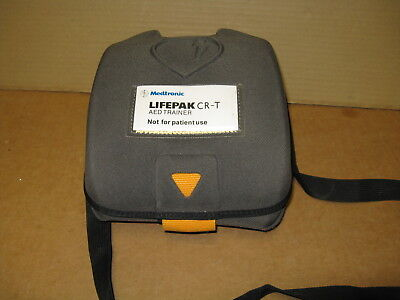 Medtronic Lifepak CR-T AED Trainer with Remote and Carrying Case